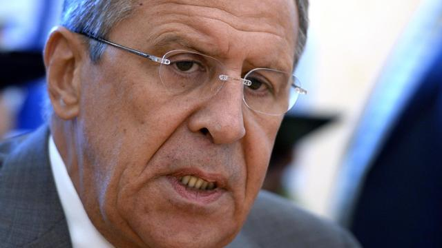Le ministre russe des Affaires étrangères, Sergueï Lavrov, le 19 août 2014 à Moscou [Alexander Nemenov / AFP/Archives]