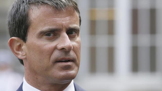 Le Premier ministre Manuel Valls le 19 août 2014 à Paris [Patrick Kovarik / AFP]