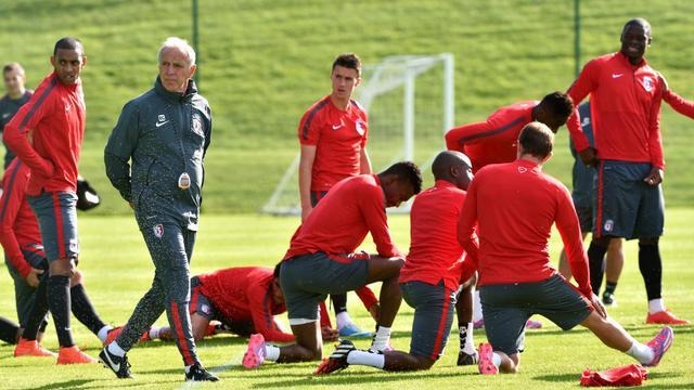 Les Lillois à l'entraînement, le 19 août 2014 Camphin-en-Pévèle  [Philippe Huguen / AFP]