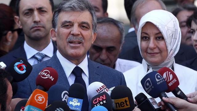 Le président Abdullah Gül et son épouse à Ankara le 10 août 2014  [Adem Altan / AFP/Archives]