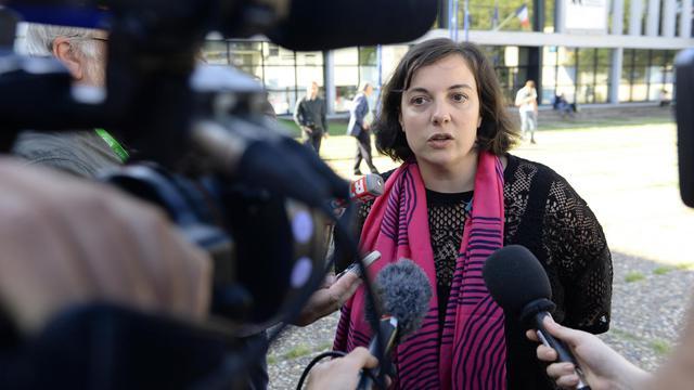 Emmanuelle Cosse, secrétaire nationale d'EELV, le 21 août 2014 à Pessac [Jean-Pierre Muller / AFP]