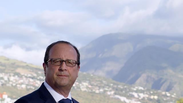 Le président français François Hollande au Port, sur l'île de la Réunion, le 21 août 2014 [Alain Jocard / Pool/AFP]