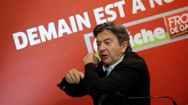 Jean-Luc Mélenchon lors de son discours de clôture de l'université du Parti de gauche le 24 août 2014 à Saint-Martin-d'Heres [Jean-Pierre Clatot / AFP]