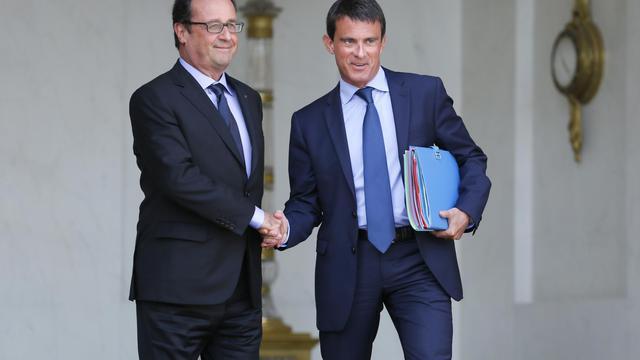 François Hollande et Manuel Valls à l'Elysée, le 20 août 2014 [Patrick Kovarik / AFP/Archives]
