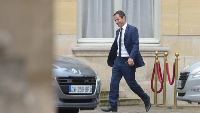 Le ministre de l'Education Benoît Hamon arrive à l'hôtel Matignon, le 25 août 2014 [Dominique Faget / AFP]