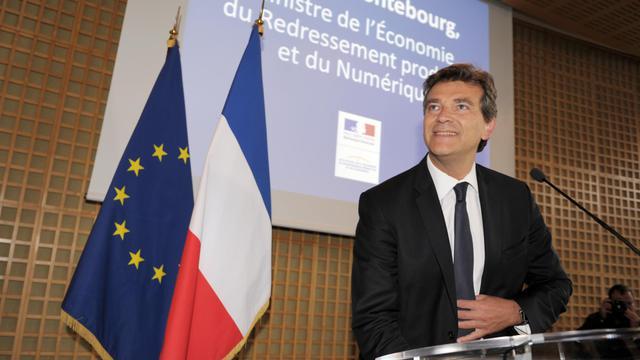 Arnaud Montebourg lors de sa conférence de presse, le 25 août 2014 à Paris [Eric Piermont / AFP]