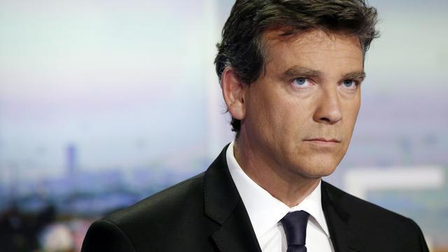L'ex-ministre de l'Economie Arnaud Montebourg sur le plateau de TF1, le 25 août 2014 à Boulogne-Billancourt près de Paris [Thomas Samson / AFP/Archives]