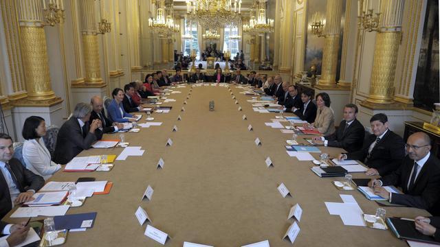 Vue générale du conseil des ministres du gouvernement Valls II, à l'Elysée le 27 août 2014 [Fred Dufour / Pool/AFP]