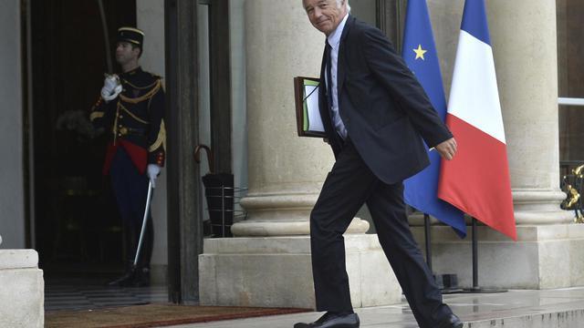 Le ministre du Travail François Rebsamen à son arrivée à l'Elysée le 27 août 2014 à Paris [Fred Dufour / AFP]