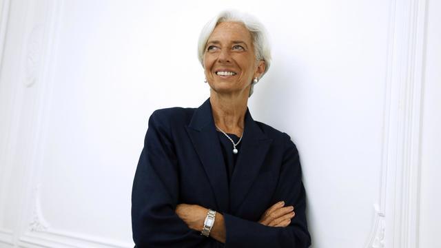 Christine Lagarde dans le bureau de son avocat à Paris, le 27 aout 2014 [Thomas Samson / AFP]