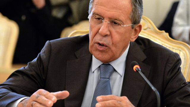Le ministre russe des Affaires étrangères, Sergei Lavrov, le 29 août 2014 à Moscou [Yuri Kadobnov / AFP]