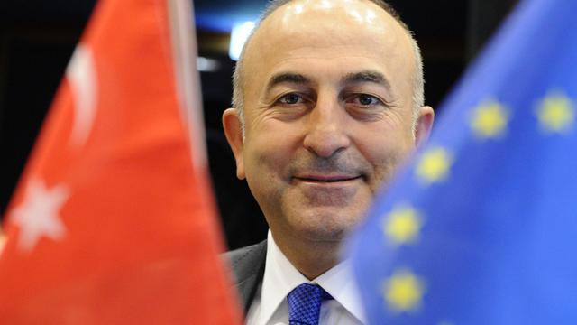 Le nouveau ministre des Affaires étrangères turc Mevlut Cavusoglu le 23 juin 2014 à Luxembourg [John Thys / AFP/Archives]