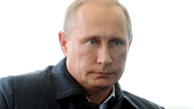 Le président russe Vladimir Poutine le 29 août 2014 à Seliger, en Russie [Mikhail Klimentyev / Pool/AFP]