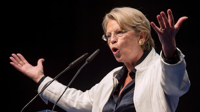 L'UMP Michèle Alliot-Marie au Touquet, le 30 août 2014 [Philippe Huguen / AFP]