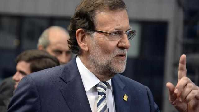 Le Premier ministre espagnol Mariano Rajoy à Bruxelles, le 30 août 2014 [Thierry Charlier / AFP]