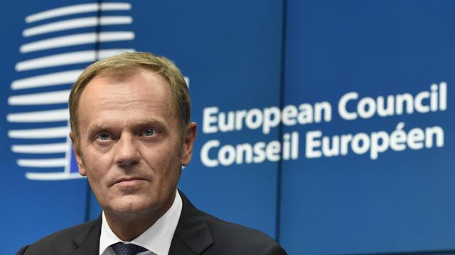 Le Premier ministre polonais Donald Tusk, désigné président du Conseil européen, le 30 août 2014 à Bruxelles [John Thys / AFP]
