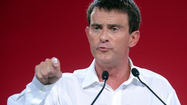 Le Premier ministre Manuel Valls s'exprime devant les militants du PS à l'université d'été de La Rochelle, le 31 août 2014  [Jean-Pierre Muller / AFP]