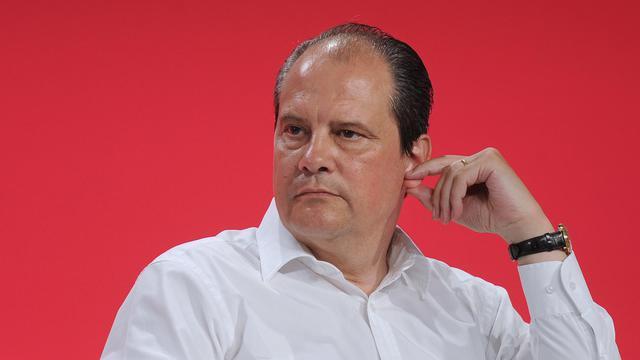 Le Premier secrétaire du Parti socialiste Jean-Christophe Cambadélis à La Rochelle, le 31 août 2014 [Xavier Leoty / AFP]
