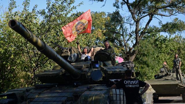 Des rebelles prorusses le 31 août 2014 à Donetsk [Francisco Leong / AFP]