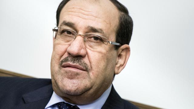 Le Premier ministre irakien, Nouri al-Maliki, le 23 juin 2014 à Bagdad [Brendan Smialowski / AFP]