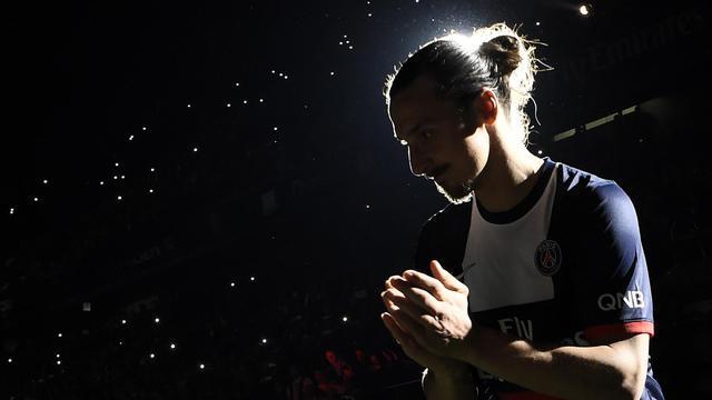 Le Parisien Zlatan Ibrahimovic le 17 mai 2014 au Parc des Princes à Paris [ / AFP/Archives]