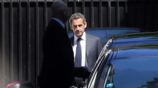 Nicolas Sarkozy à la sortie de son domicile le 2 juillet 2014 à Paris [Jacques Demarthon / AFP/Archives]