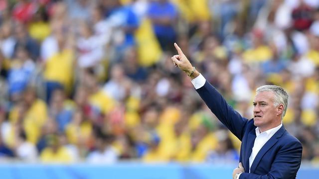 Le sélectionneur de l'équipe de France Didier Deschamps, lors du quart de finale du Mondial contre l'Allemagne, le 4 juillet 2014 à Rio [Franck Fife / AFP]