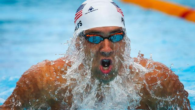 L'Américain Micheal Phelps sur 200 m libre lors des championnats PanPacifiques le 24 août 2014 à Gold Coast [Patrick Hamilton / AFP]