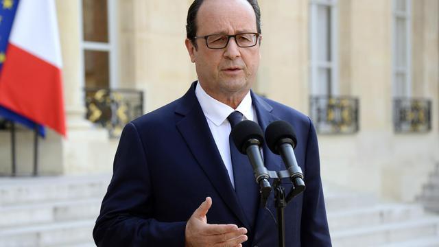 François Hollande, le 24 juillet 2014 au Palais de l'Elysée [BERTRAND GUAY / AFP]