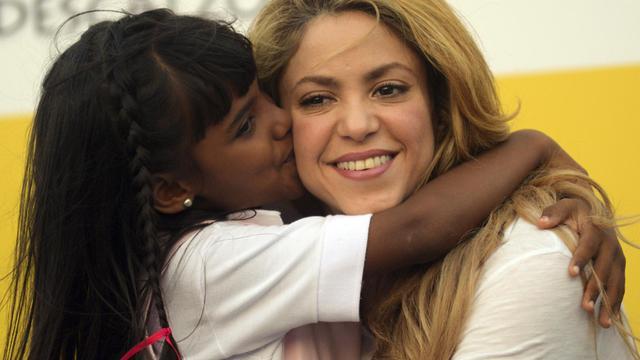 La chanteuse colombienne Shakira inaugure une école à Carthagène le 24 février 2014 [Manuel Pedraza / AFP/Archives]