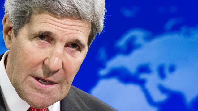 John Kerry, le secrétaire d'Etat américain, le 28 juillet 2014 à Washington lors d'une conférence de presse [Paul J. Richards / AFP]