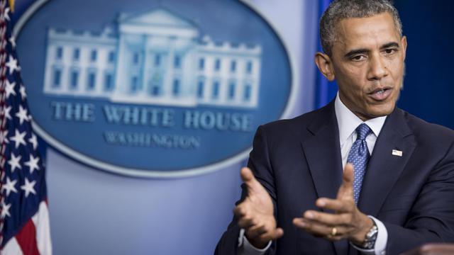 Le président américain Barack Obama le 1er août 2014 à la Maison Blanche, à Washington [Brendan Smialowski / AFP/Archives]