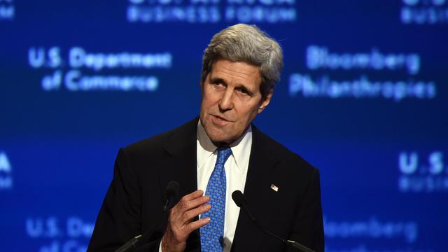 Le secrétaire d'Etat américain John Kerry, le 5 août 2014 à Washington lors du sommet Etats-Unis-Afrique [Jewel Samad / AFP]