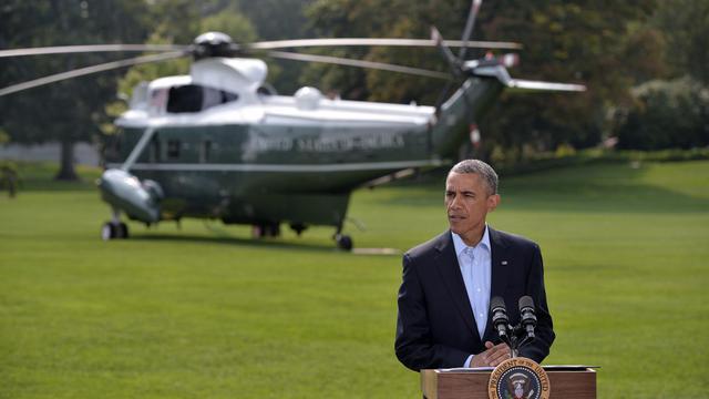 Barack Obama à la Maison Blanche le 9 aout 2014 [Mandel Ngan / AFP]