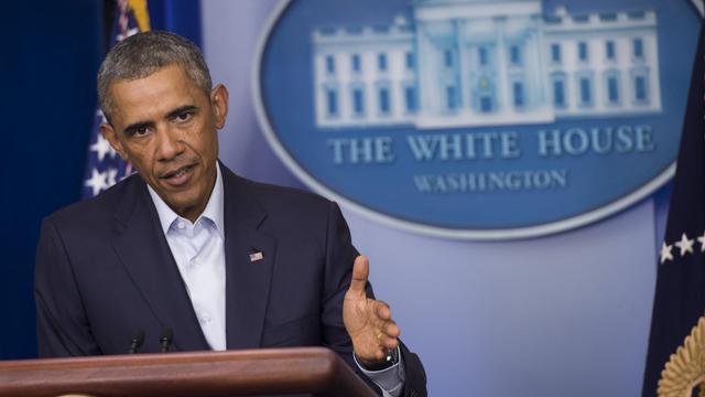 Barack Obama lors d'un point de presse le 18 août 2014 à la Maison Blanche [Saul Loeb / AFP]