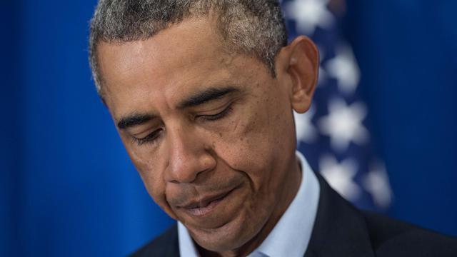 Le président américain Barack Obama le 20 août 2014 à Martha's Vineyard (Massachusetts) [Nicholas Kamm / AFP/Archives]