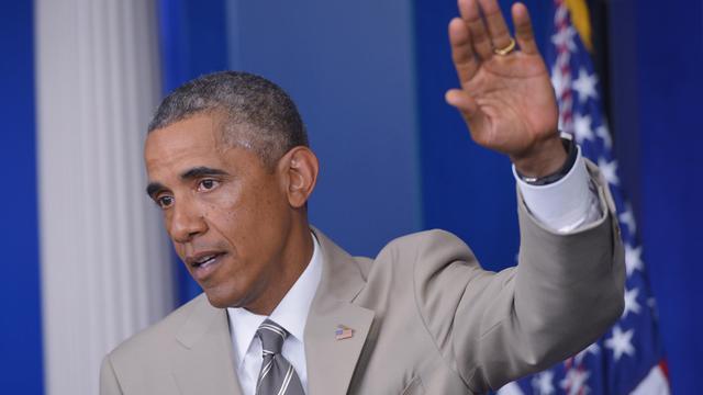 Le président américain Barack Obama lors de sa conférence de presse le 28 août 2014 à la Maison Blanche [Mandel Ngan / AFP]