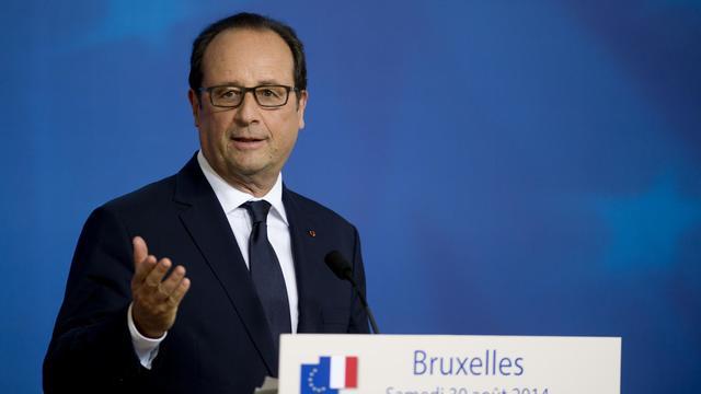 Le président français François Hollande en conférence de presse après un sommet européen à Bruxelles, le 31 août 2014 [Alain Jocard / AFP]