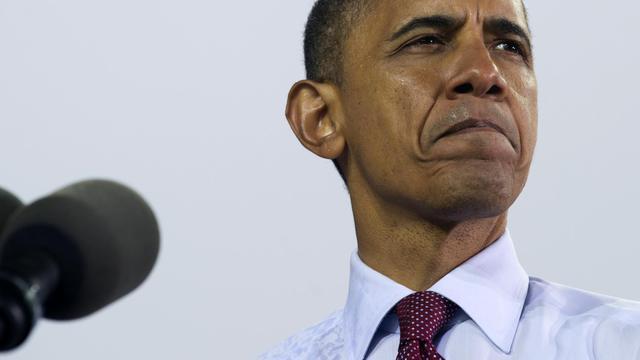 Le président américain Barack Obama le 22 septembre 2012 à Milwaukee, dans le Wisconsin [Saul Loeb / AFP]