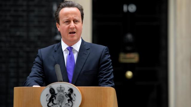 David Cameron le 23 mai 2013 lors d'un point de presse devant Downing Street