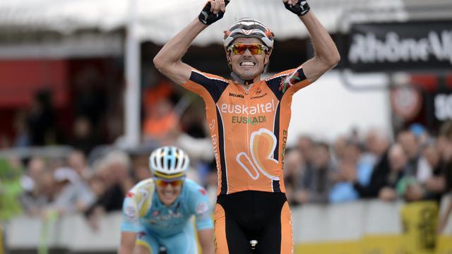 L'Espagnol Samuel Sanchez vainqueur de la 7e étape du Critérium du Dauphiné le 8 juin 2013 à Superdévoluy [Jeff Pachoud / AFP]
