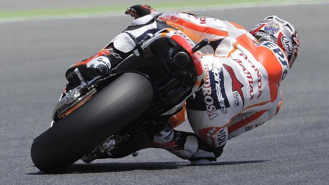 L'Espagnol Dani Pedrosa (Honda) lors des qualifications du GP de Catalogne, le 15 juin 2013 sur le circuit de Montmelo [Josep Lago / AFP]