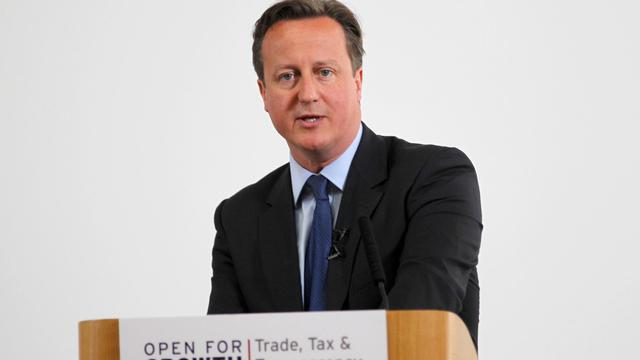 Le Premier ministre David Cameron le 15 juin 2013 à Londres [Steve Parsons / Pool/AFP]
