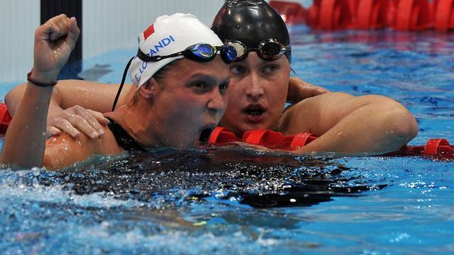 La nageuse Elodie Lorandi, déjà double médaillée de bronze à Londres, a remporté l'or sur 400 m libre (S10) mercredi aux jeux Paralympiques, offrant à la délégation française son septième titre[AFP]