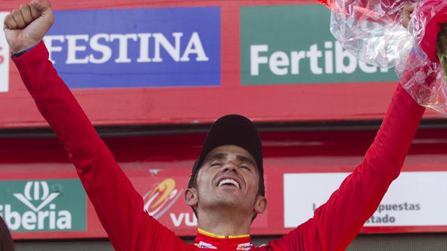 Alberto Contador (Saxo-Bank) qui a conservé son maillot rouge de leader est désormais assuré, sauf incident, de la victoire finale sur la Vuelta 2012, à l'issue de la 20e et avant-dernière étape remportée par le Russe Denis Menchov (Katusha), samedi. [AFP]