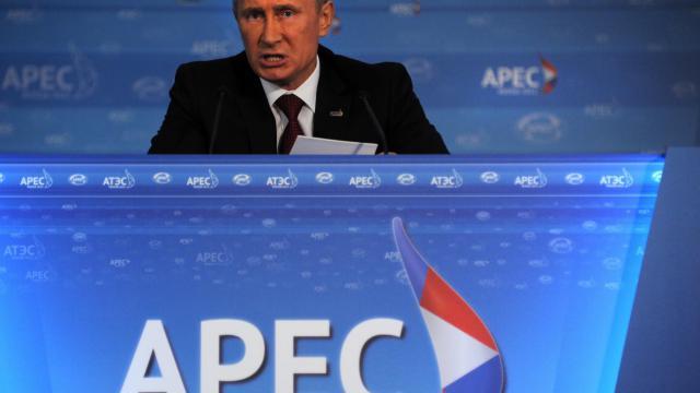 RLe président russe Vladimir Poutine a prôné dimanche un rapprochement de la Russie avec la région Asie-Pacifique, la plus dynamique au monde, et critiqué l'Europe plongée dans une profonde crise, lors d'un sommet régional en Russie. [AFP]