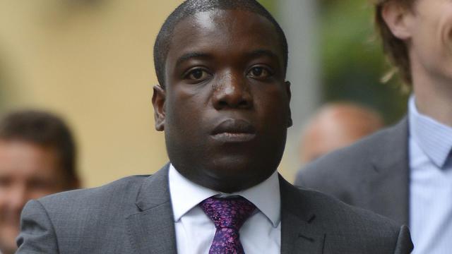 L'ex-trader d'UBS Kweku Adoboli, à son arrivée au tribunel de Southwark, à Londres, le 14 septembre 2012 [Leon Neal / AFP]