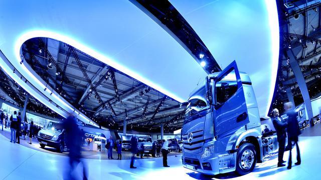 Vue du salon international des véhicules commerciaux IAA à Hanovre, le 18 septembre 2012 [Peter Steffen / DPA/AFP]