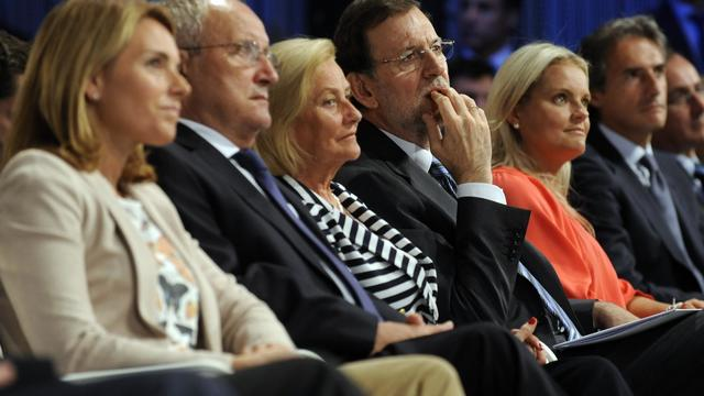 Le chef du gouvernement espagnol Mariano Rajoy, le 18 septembre 2012 à Bilbao [Rafa Rivas / AFP]