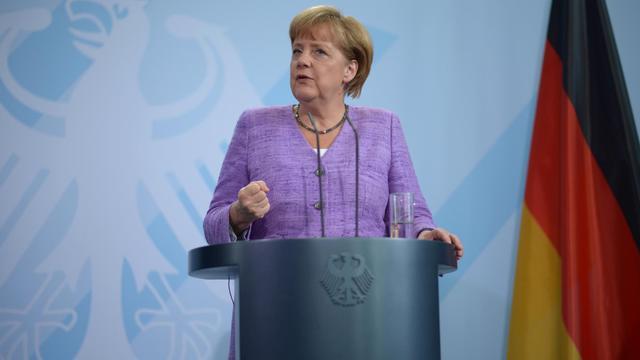 La chancelière allemande Angela Merkel, le 19 septembre 2012 à Berlin [Johannes Eisele / AFP]